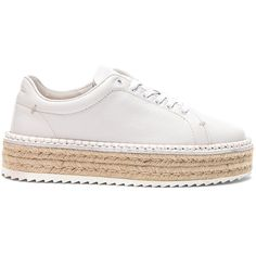 Rag & Bone Leather Kent Espadrilles ($350) ❤ liked on Polyvore featuring shoes, sandals, sneakers, leather espadrilles, rubber sole sandals, genuine leather shoes, leather espadrille sandals and rubber sole shoes