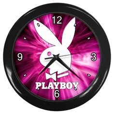 "Playboy Pink [10"" Wall Clock Black Frame]"