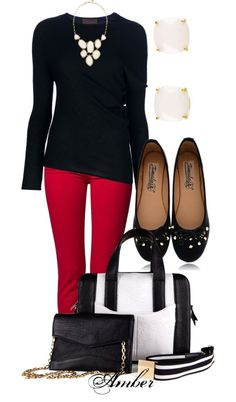 """Red White and Black"" by stay-at-home-mom on Polyvore"