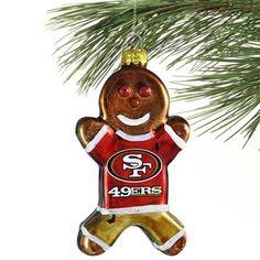 san francisco 49ers gingerbread man ornament