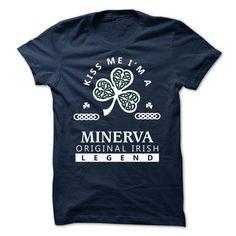 MINERVA - Kiss me Im Team - #gift for men #personalized gift. THE BEST => https://www.sunfrog.com/Valentines/-MINERVA--Kiss-me-Im-Team.html?68278