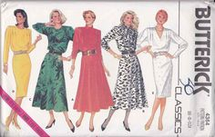 Butterick Sewing Pattern 4364 Misses Size 12-16 Easy Classic Straight Flared Skirt Long Sleeve Dress  --  Need a different size or pattern? Check out our store www.MoonwishesSewingandCrafts.com for 8000+ uncut sewing patterns all sizes and styles! Buy 2 or more patterns and get an automatic upgrade to Priority Mail in the US!