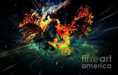 Yin Yang Designs, Yin Yang Art, The World's Greatest, Lds, Fine Art America, Digital Art, Dragon, The Incredibles, Wall Art
