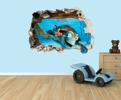 Finding Nemo 3D effect smashed hole in wall by EdibleToppersUK