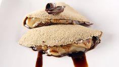 Tapioca de café com doce de leite e chocolate servida pelo restaurante Mocotó