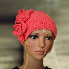 Coral wool beanie, Stylish beanie hat, Knit fall cap, Crochet warm beanie, Womens winter hat, Crochet skull cap, Boho style beanie by AccessoryArty on Etsy https://www.etsy.com/listing/249583205/coral-wool-beanie-stylish-beanie-hat