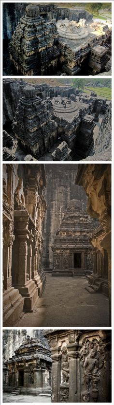 """apiphile: """" essequamviderinunc: """" Kailashnath Temple, also Kailash Temple or Kailasanath Temple is a famous temple dug…in the wall of a high basalt cliff in the complex located at Ellora,. Temple Architecture, Ancient Architecture, New Scientific Discoveries, Indus Valley Civilization, Archaeological Discoveries, India India, Mysterious Places, The Secret History, Largest Countries"""