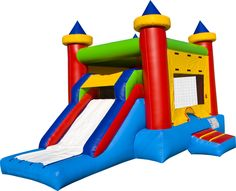 Kids Party Games - Bounce houses are are so much fun for kids birthday parties.