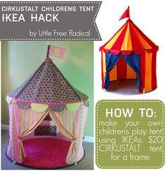 Little Free Radical: CIRKUSTÄLT children's tent makeover | ikea hack | little free radical