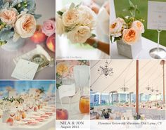 Peaches and Cream Wedding