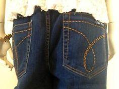 Dark Wash Calvin Klein Retro Flare Jeans - Size 16