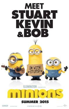 Minions on DVD December 2015 starring Sandra Bullock, Pierre Coffin, Chris Renaud, Jon Hamm. The story of Universal Pictures and Illumination Entertainment's Minions begins at the dawn of time. Starting as single-celled yellow orga Amor Minions, Minions Film, Image Minions, Minion Movie, Minions Despicable Me, Minions Bob, Minion Party, Minions Quotes, Film D'animation