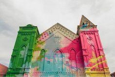 Washington-D.C. - Graffiti-covered Church
