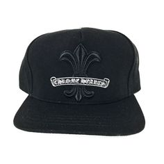 57db752c1b444 CH Bs Fluer Lable Hat - Black Chrome Hearts