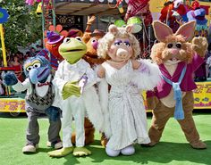 The Green Carpet is Rolled Out at Disneys Hollywood Studios in 1991 for the Official Opening of Muppet*Vision 3D at Walt Disney World Resort