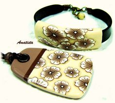 Conjunto flor beige-marrón by el rincón de amatista, via Flickr