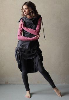 Купить Сэт из 3 вещей - Зимнее настроение - темно-серый, розовый, одежда для женщин, одежда