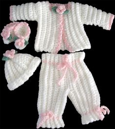 Rosella Baby Layette Crochet Pattern PDF by Maggiescrochet on Etsy, $7.99