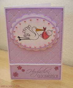 BIBRE´s Fadenzauber: Der Storch war da....Baby Card Baby Cards, Blog, War, Kids, Cards, Pictures, Children, Boys, Blogging