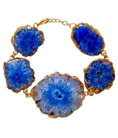 Reef Runner in Blue Bracelet - Brass and Blue Solar Gava | Handcrafted Bracelet | Mela Artisans