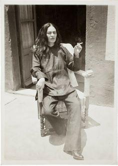 Frida Kahlo después de una operación de 1946