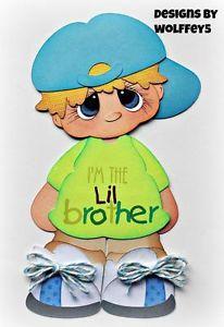 ELITE4U-BROTHER-paper-piecing-premade-scrapbook-page-album-die-cut-WOLFFEY5