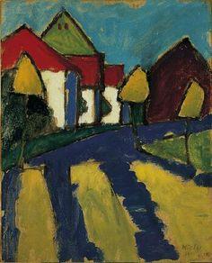 Gabriele Münter(German, 1877-1962), Lower Main Street, Murnau, 1910