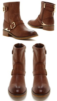 Cute boots for Fall, love the gold detailing.