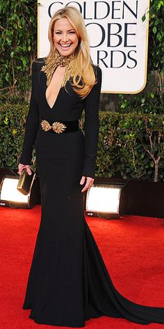 Kate Hudson 2013 Golden Globes, dress by Alexander McQueen. Size 36. Original price $7,160.