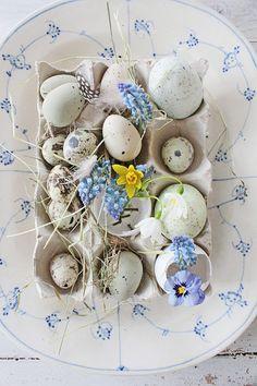 Beautiful Spring vignette from Vibeke Design