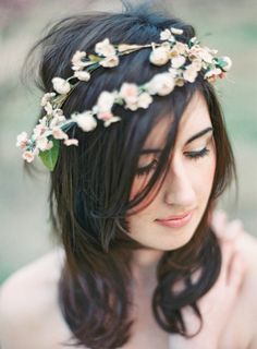Boho flower crown: http://www.stylemepretty.com/2013/06/14/wiup-peach-orchard-photo-shoot-winners/ | Photography: Landon Jacob - http://landonjacob.com/