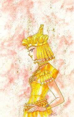 Sailor Galaxia - Sailor Moon; Original art. By Naoko Takeuchi