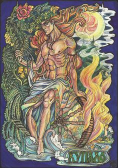 Kupalo - the slavic God of summer, peace, water, magic, and herbs --- by ~Righon on deviantART