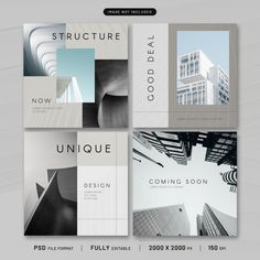 Banner Social Media, Social Media Design, Architecture Background, Roof Architecture, Banner Instagram, Instagram Design, Instagram Feed, Page Layout Design, Glass Building