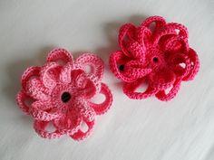 Crochet Flowers for Hair & Ring   Maparim