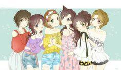 Beautiful art from Detective Conan. This pic needs a story! Why are Sonoko, Ran and Kogoro all so sad about Conan? Magic Kaito, Sherlock Holmes, Detective Conan Ran, Manga Anime, Anime Art, Detektif Conan, Kaito Kuroba, Anime Songs, Kaito Kid