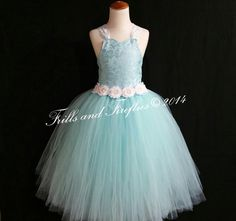 Aqua Flower Girl Vintage Lace Corset Dress-Lace Shabby Chic Corset Back Dress-Tutu Dress- Size 1t, 2t, 3t, 4t, 5t, 6, 7, 8, 10 or 12 by FrillsandFireflies on Etsy