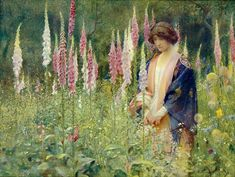 ⊰ Posing with Posies ⊱ paintings of women and flowers - Arthur Hacker : The Drone