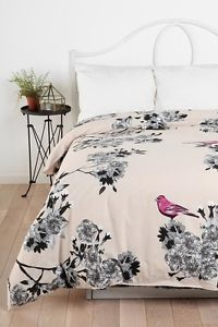 Urban Outfitters Bedding | ... Bird Blossom Duvet Cover Urban Outfitters  Anthropologie Shams Grey