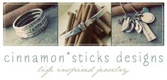 Cinnamon Sticks — Moroccan Twilight gem stone hand stamped fine silver ring