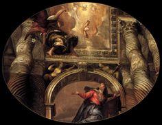 Paolo VERONESE   Annunciazione (1558). Olio su tela, 340 cm. x 455 cm. Basilica dei Santi Giovanni e Paolo, Venice.