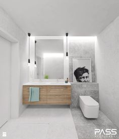 Projekt 8 - Łazienka, styl skandynawski - zdjęcie od PASS Architekci