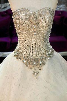 Jeweled Corset Wedding Dress