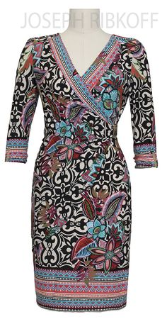 Joseph Ribkoff Wrap Dress | 2016 Collection.#maatje meer # tot maat 48 !http://www.nr4.be/