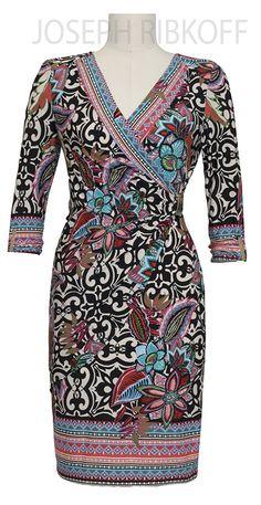 Joseph Ribkoff Wrap Dress | 2016 Collection.