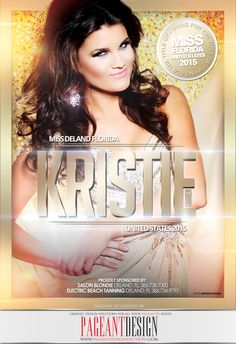 #AWESOMEpageantAD designed for Kristie O'Brien for the official MISS FL US Program Book | GET IN TOUCH if you need an awesome-looking, professionally-designed ad page! | #PageantDesign Graphic design solutions for all your pageantry needs! | For samples, check out: http://www.pageantdesignsolutions.com/ and like us on facebook: https://www.facebook.com/pageantdesign | ALL STATES, ALL AGES, ALL PAGEANTS SYSTEMS WELCOME! #PageantAds #AWESOMEpageantADS