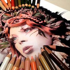 Hyperrealism Drawings With Pencil By Karla Mialynne. Karla Mialynne impressing paintings are mostly created with watercolor pencils, colored markers and Pencil Drawings, Art Drawings, Hyperrealistic Drawing, Creative Colour, Coloured Pencils, Color Pencil Art, Realistic Drawings, Watercolor Pencils, Art Graphique