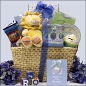 Baby's 1st Birthday ~ Boy Large: Baby Birthday Gift Basket