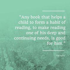 Maya Angelou on reading.