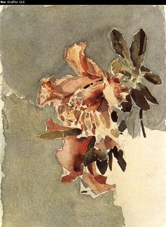 Image Detail for - vrubel red azaleas mk72 1886 87 watercolor and graphite on paper 24x15 ...
